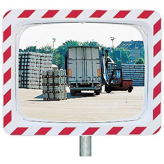 Espejo vial en acero inoxidable Vialux 854 - 600x400 mm