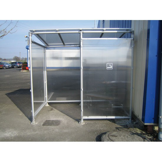 Marquesina para fumadores de Aluminio Industrial