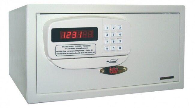 Caja de seguridad para hotelería PK, blanca