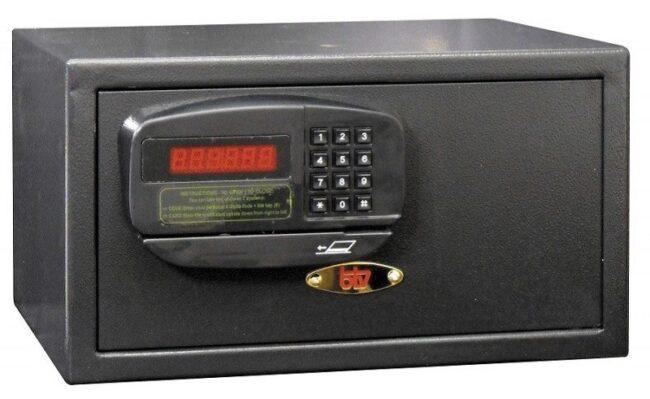 Caja de seguridad para hotelería PK, negra
