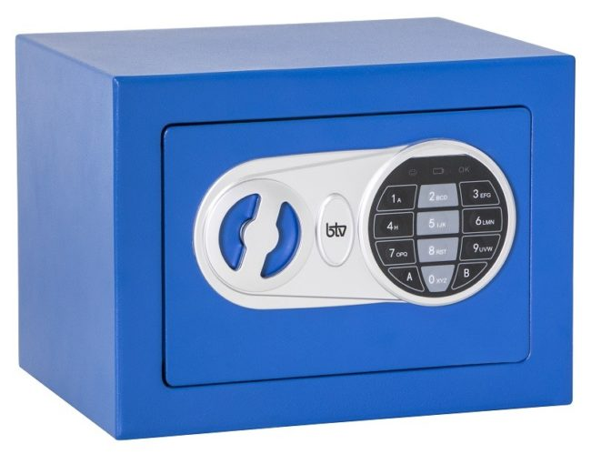 Caja de seguridad Btv Minibak Azul