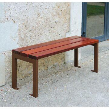 Bancos de madera roble sin respaldo SILAOS, de 2 y 3 plazas