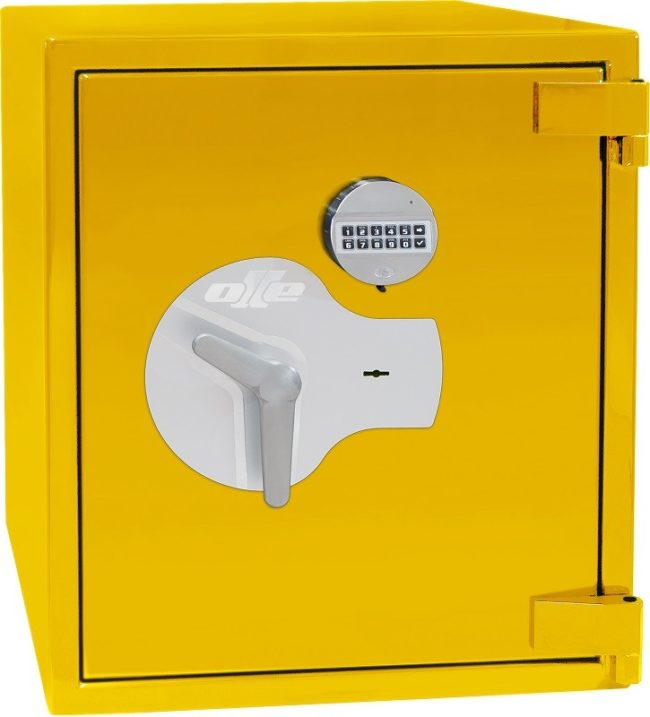 Caja fuerte Grado 4 Olle AP-3E, acabado brillante color amarillo