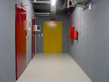 Puertas cortafuego pivotantes opacas Gunnebo serie FichetBat