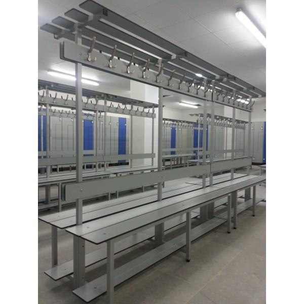 Bancos de vestuario en Aluminio serie AL