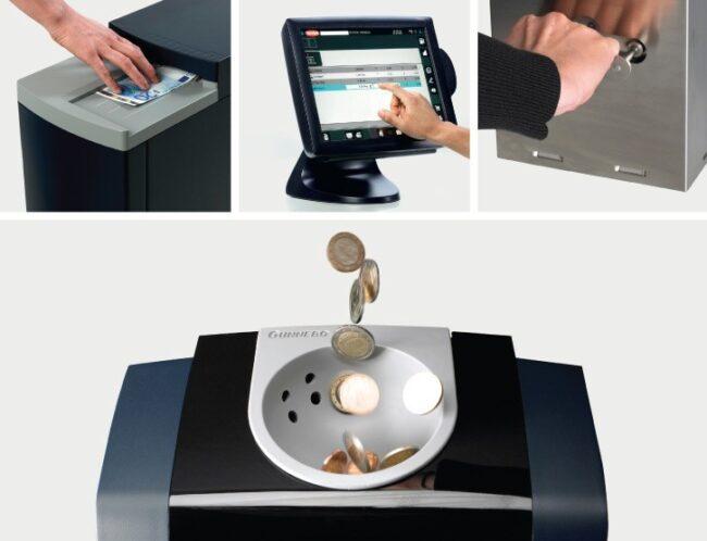 Reciclador de monedas para sistema de ciclo cerrado de efectivo Gunnebo SafePay CR2