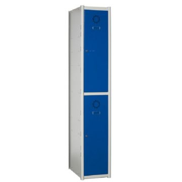 Taquillas metálicas modulares de 2 puertas por columna AT