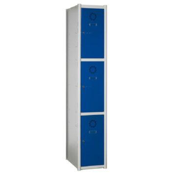 Taquillas metálicas modulares de 3 puertas por columna AM