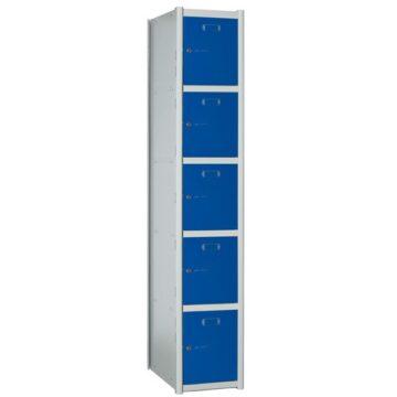 Taquillas metálicas modulares de 5 puertas por columna AP