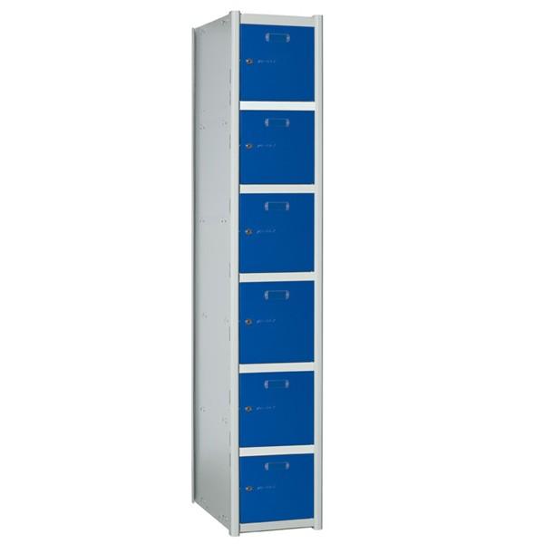 Taquillas metálicas modulares de 6 puertas por columna AB