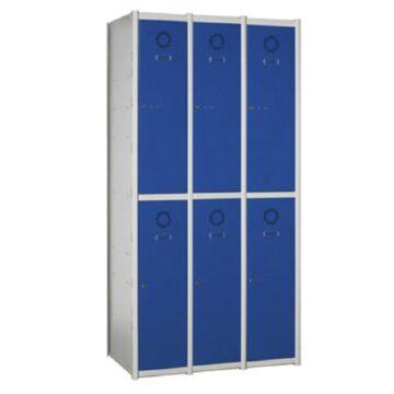 Taquilla metálica modular de 2 puertas AT, 3 columnas