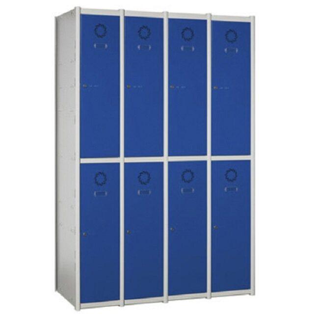 Taquilla metálica modular de 2 puertas AT, 4 columnas