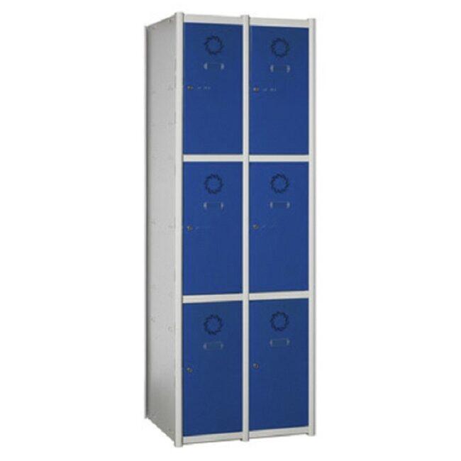 Taquilla metálica modular de 3 puertas AM, 2 columnas