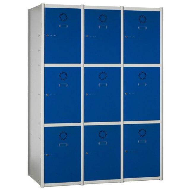 Taquilla metálica modular de 3 puertas AM, 3 columnas