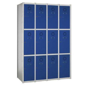Taquilla metálica modular de 3 puertas AM, 4 columnas