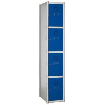 Taquilla metálica modular de 4 puertas AC, 1 columna