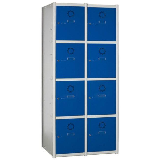 Taquilla metálica modular de 4 puertas AC, 2 columnas