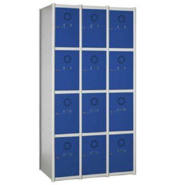 Taquilla metálica modular de 4 puertas AC, 3 columnas
