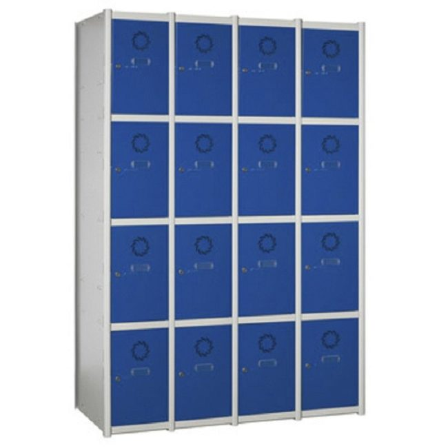 Taquilla metálica modular de 4 puertas AC, 4 columnas