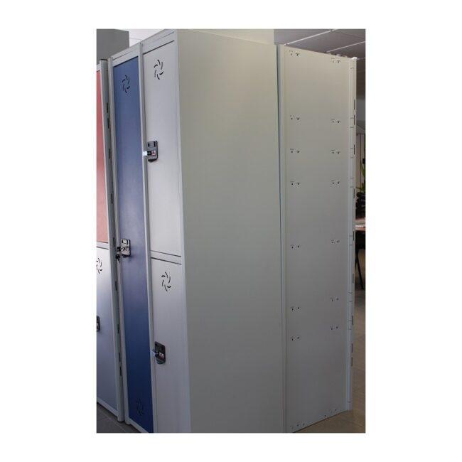 Taquilla metálica modular de 5 puertas AP, 2 columnas