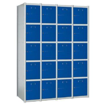 Taquilla metálica modular de 5 puertas AP, 4 columnas