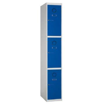 Taquillas metálicas modulares ECO de 3 puertas por columna ECOM