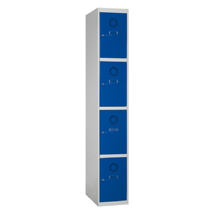 Taquillas metálicas modulares ECO de 4 puertas por columna ECOC