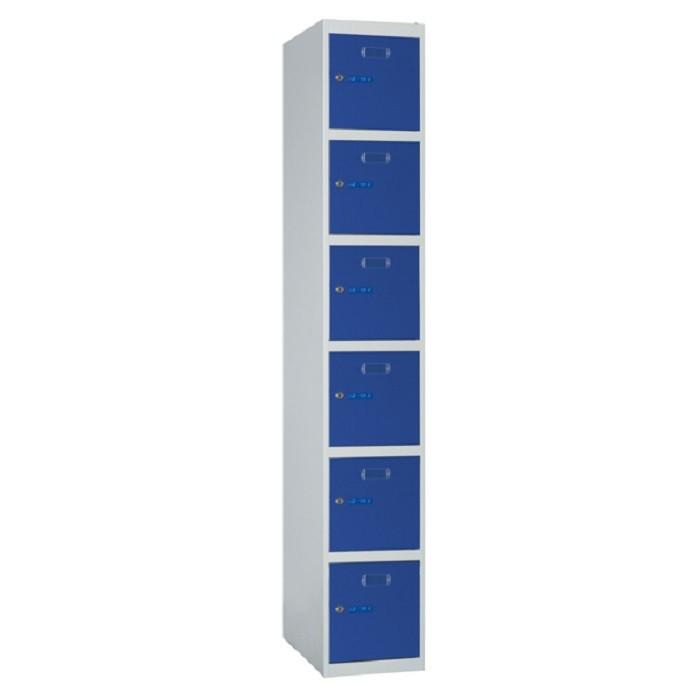 Taquillas metálicas modulares ECO de 6 puertas por columna ECOB