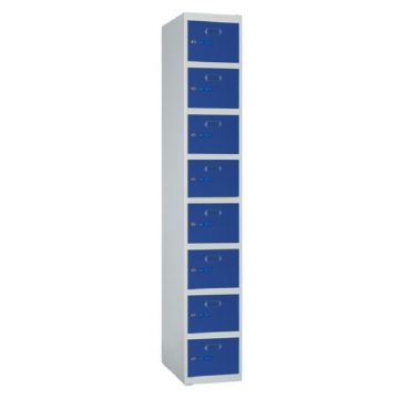 Taquillas metálicas modulares ECO de 8 puertas por columna ECOZ