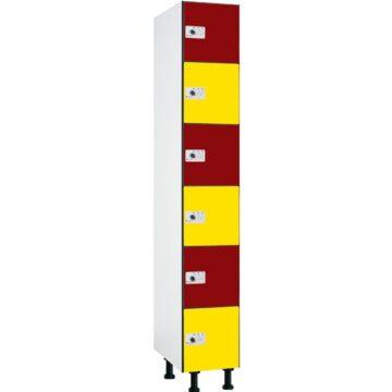 Taquillas fenólicas de 6 puertas por columna FB