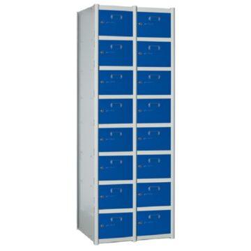 Taquilla metálica modular de 8 puertas AZ, 2 columnas