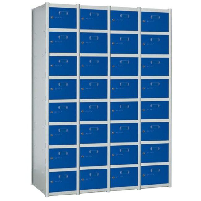 Taquilla metálica modular de 8 puertas AZ, 4 columnas