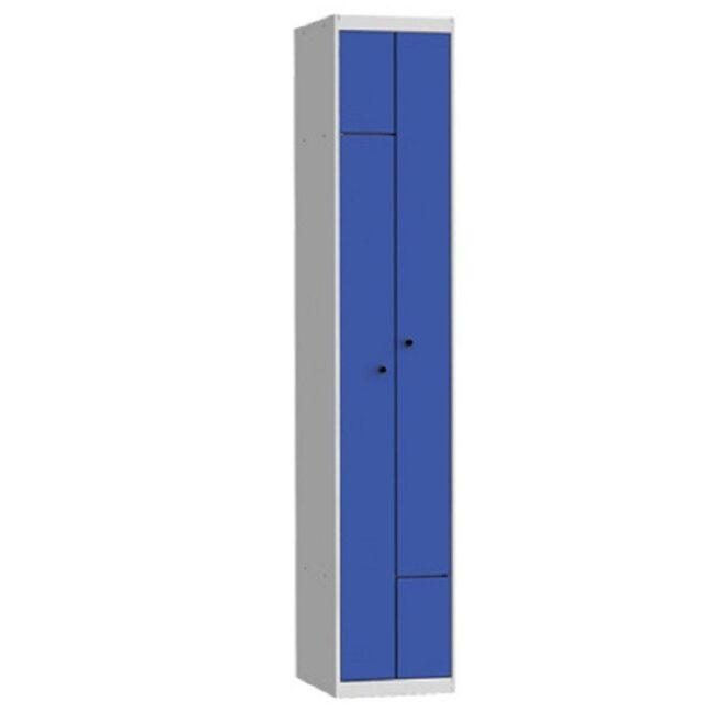 Taquilla metálica modular de 2 puertas en L AL, 1 columna