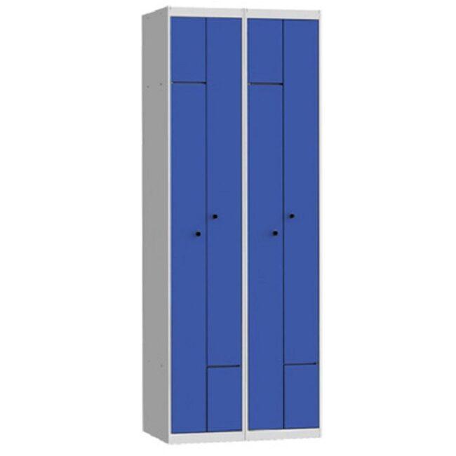 Taquilla metálica modular de 2 puertas en L AL, 2 columnas