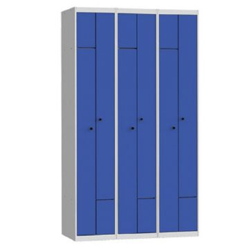 Taquilla metálica modular de 2 puertas en L AL, 3 columnas