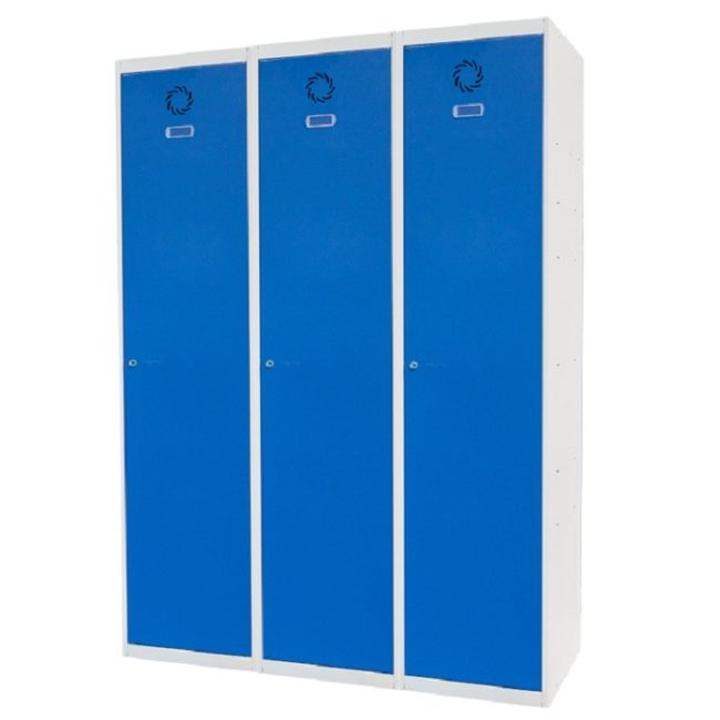 Taquilla metálica modular de 1 puerta ECOV, 3 columnas