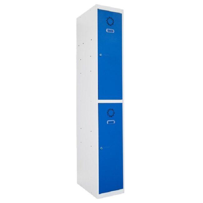 Taquilla metálica modular de 2 puertas ECOT, 1 columna