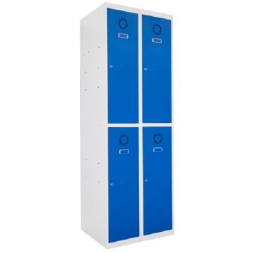 Taquilla metálica modular de 2 puertas ECOT, 2 columnas