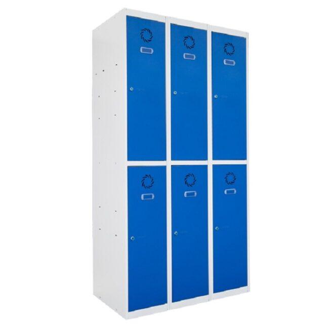 Taquilla metálica modular de 2 puertas ECOT, 3 columnas