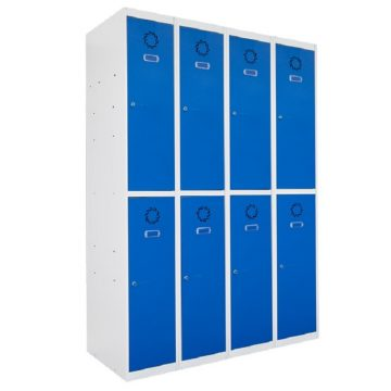 Taquilla metálica modular de 2 puertas ECOT, 4 columnas