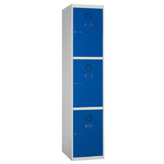 Taquilla metálica modular de 3 puertas ECOM, 1 columna