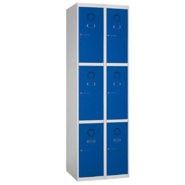 Taquilla metálica modular de 3 puertas ECOM, 2 columnas