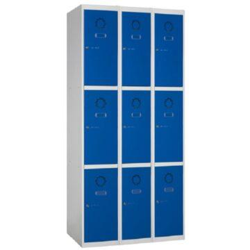Taquilla metálica modular de 3 puertas ECOM, 3 columnas