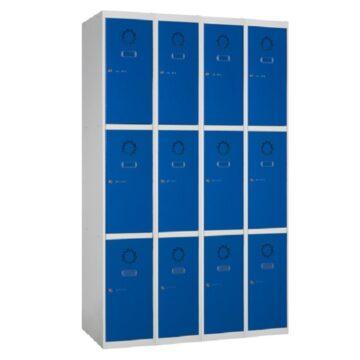 Taquilla metálica modular de 3 puertas ECOM, 4 columnas
