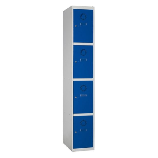 Taquilla metálica modular de 4 puertas ECOC, 1 columna