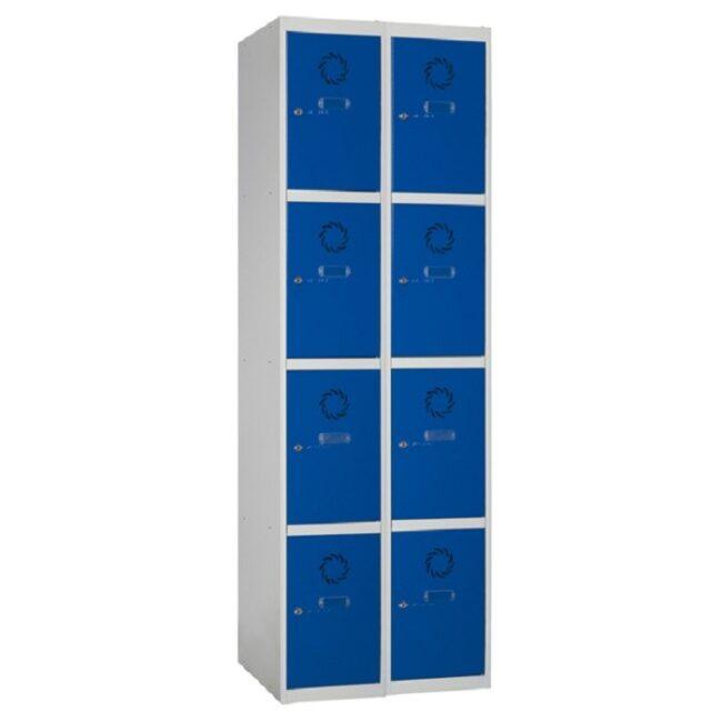Taquilla metálica modular de 4 puertas ECOC, 2 columnas