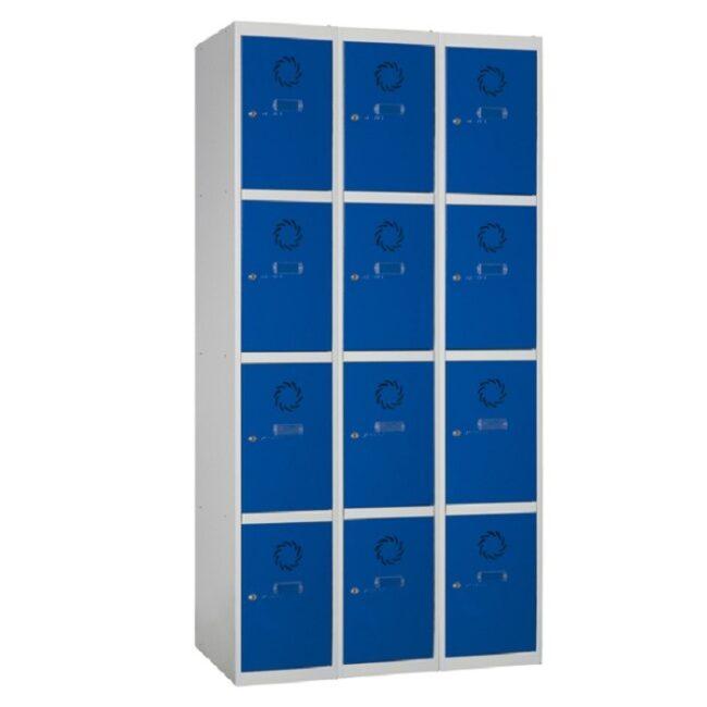 Taquilla metálica modular de 4 puertas ECOC, 3 columnas