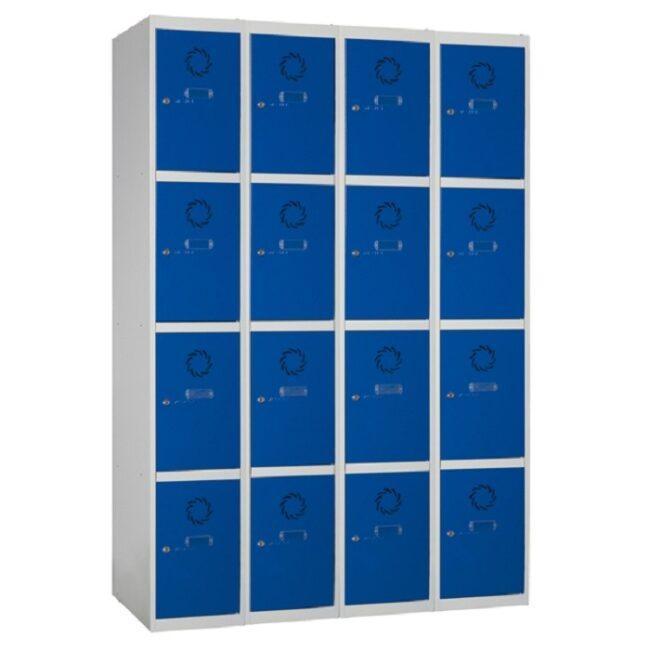 Taquilla metálica modular de 4 puertas ECOC, 4 columnas