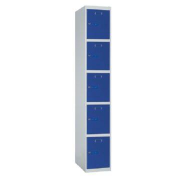 Taquilla metálica modular de 5 puertas ECOP, 1 columna