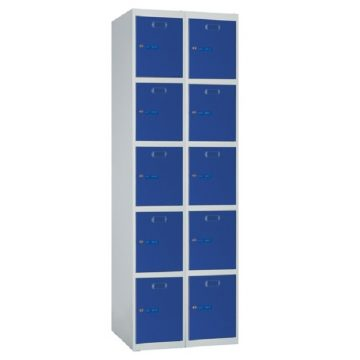 Taquilla metálica modular de 5 puertas ECOP, 2 columnas